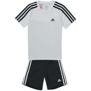 Abbigliamento Bambino Tuta adidas Performance B 3S T SET Bianco / Nero