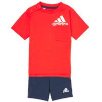 Abbigliamento Bambino Completo adidas Performance BOS SUM  SET Rosso / Nero