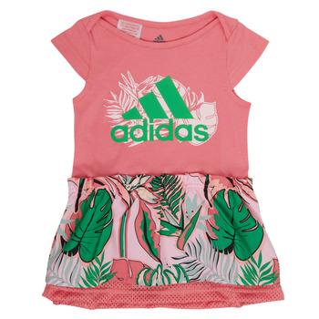 Abbigliamento Bambina Abiti corti adidas Performance FLOWER DRESS Rosa
