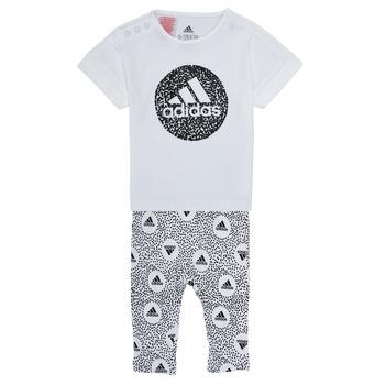 Abbigliamento Bambina Completo adidas Performance TIGHT SET Bianco