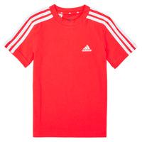 Abbigliamento Bambino T-shirt maniche corte adidas Performance B 3S T Rosso