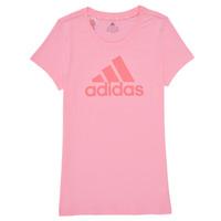 Abbigliamento Bambina T-shirt maniche corte adidas Performance G BL T Rosa