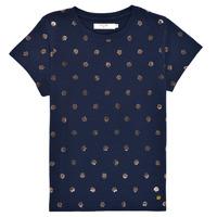 Abbigliamento Bambina T-shirt maniche corte Deeluxe MAYA Marine