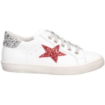 Scarpe Bambina Sneakers basse Dianetti Made In Italy I9869 Sneakers Bambina Bianco/Argento Bianco/Argento