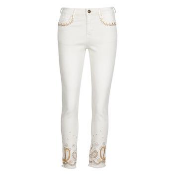 Abbigliamento Donna Jeans slim Desigual PAISLEY Bianco