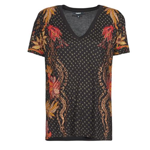 Abbigliamento Donna T-shirt maniche corte Desigual PRAGA Nero