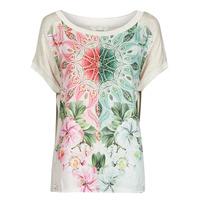 Abbigliamento Donna T-shirt maniche corte Desigual COPENHAGUE Bianco