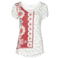 Abbigliamento Donna T-shirt maniche corte Desigual ESTAMBUL Bianco