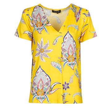 Abbigliamento Donna T-shirt maniche corte Desigual LEMARK Giallo