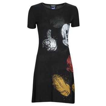 Abbigliamento Donna Abiti corti Desigual MICKEY Nero