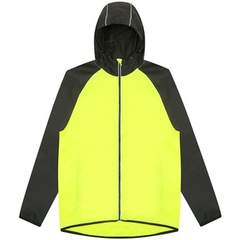 Abbigliamento Uomo giacca a vento Awdis JC062 Giallo Elettrico/Nero