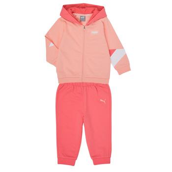 Abbigliamento Bambina Completo Puma BB MINICATS REBEL Rosa / Grigio