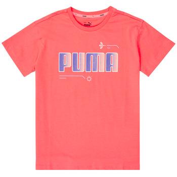 Abbigliamento Bambina T-shirt maniche corte Puma ALPHA TEE Rosa