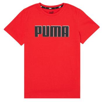 Abbigliamento Bambino T-shirt maniche corte Puma ALPHA GRAF TEE Rosso
