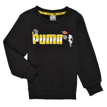 Abbigliamento Bambino Felpe Puma SNOOPY PEANUTS CREW Nero