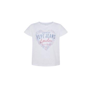 Abbigliamento Bambina T-shirt maniche corte Pepe jeans PIPER Bianco