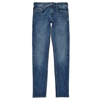 Abbigliamento Bambino Jeans skynny Pepe jeans FINLY Blu