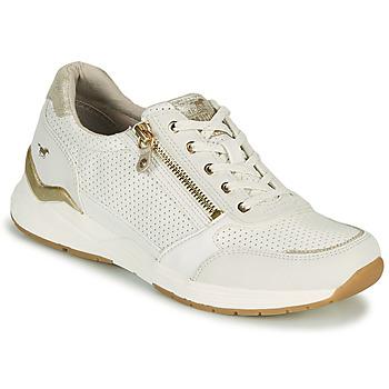 Scarpe Donna Sneakers basse Mustang ANINTA Bianco / Oro