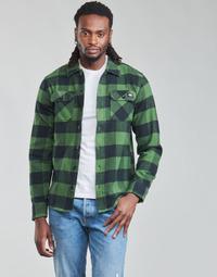 Abbigliamento Uomo Camicie maniche lunghe Dickies NEW SACRAMENTO SHIRT PINE GREEN Kaki / Nero