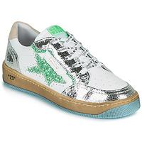 Scarpe Donna Sneakers basse Semerdjian ARTO Bianco / Argento / Verde