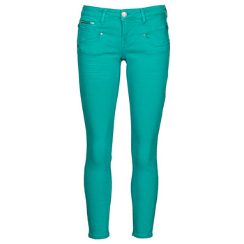 Abbigliamento Donna Pantaloni 5 tasche Freeman T.Porter ALEXA CROPPED NEW MAGIC COLOR Verde viridian / Green