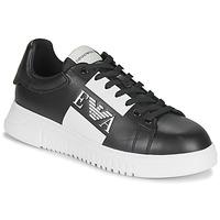 Scarpe Uomo Sneakers basse Emporio Armani MALTA Nero / Bianco