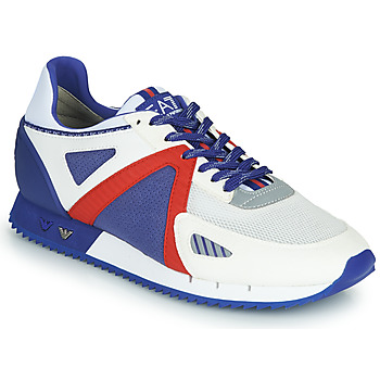 Scarpe Uomo Sneakers basse Emporio Armani EA7 SAPONI Bianco / Blu / Rosso