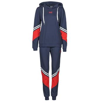 Abbigliamento Donna Tuta Emporio Armani EA7 3KTV65-TJ3PZ-1554 Marine / Bianco / Rosso
