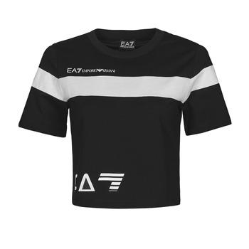 Abbigliamento Donna T-shirt maniche corte Emporio Armani EA7 3KTT05-TJ9ZZ-1200 Nero / Bianco