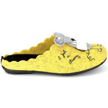 Scarpe Pantofole La Maison De L'espadrille Mule Souris Jaune Giallo