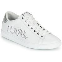 Scarpe Donna Sneakers basse Karl Lagerfeld KUPSOLE II KARL PUNKT LOGO LO Bianco