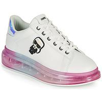 Scarpe Donna Sneakers basse Karl Lagerfeld KAPRI KUSHION KARL IKONIC LO LACE Bianco / Multicolore