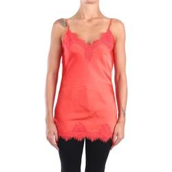 Abbigliamento Donna Top / T-shirt senza maniche Pink Memories 10913 Canotte Donna Arancio Arancio