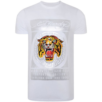 Abbigliamento Uomo T-shirt maniche corte Ed Hardy - Tile-roar t-shirt Bianco