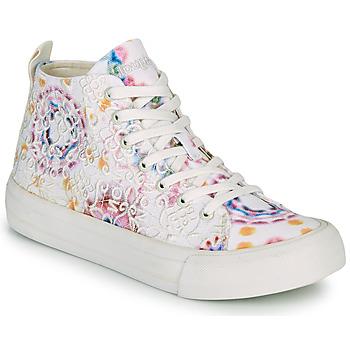 Scarpe Donna Sneakers alte Desigual BETA LACE TIE DYE Bianco