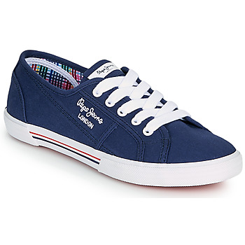 Scarpe Donna Sneakers basse Pepe jeans ABERLADY ECOBASS Marine