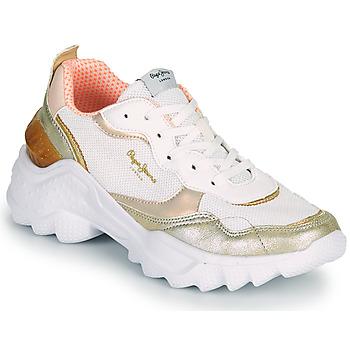 Scarpe Donna Sneakers basse Pepe jeans ECCLES TOP Bianco / Oro