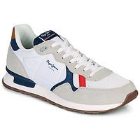 Scarpe Uomo Sneakers basse Pepe jeans BRITT MAN BASIC Bianco / Beige