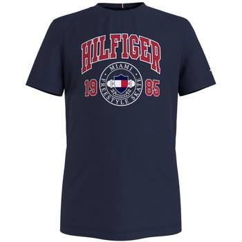 Abbigliamento Bambino T-shirt maniche corte Tommy Hilfiger CRISA Marine