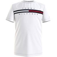 Abbigliamento Bambino T-shirt maniche corte Tommy Hilfiger KB0KB06532-YBR Bianco