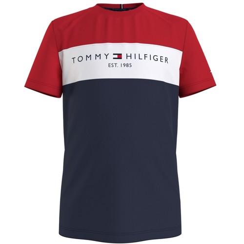 Abbigliamento Bambino T-shirt maniche corte Tommy Hilfiger KB0KB06534-C87 Multicolore