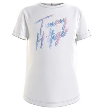 Abbigliamento Bambina T-shirt maniche corte Tommy Hilfiger KG0KG05870-YBR Bianco