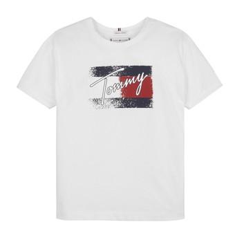 Abbigliamento Bambina T-shirt maniche corte Tommy Hilfiger MONCHE Bianco