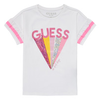 Abbigliamento Bambina T-shirt maniche corte Guess K1RI04-K6YW1-TWHT Bianco