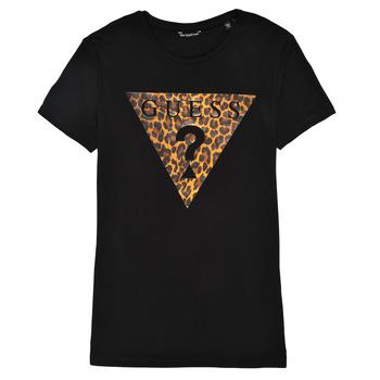 Abbigliamento Bambina T-shirt maniche corte Guess J1RI27-K9MV0-P954 Nero