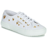 Scarpe Unisex bambino Sneakers basse Superga 2750 COTJEMBROIDERY LAMEHEARTS Bianco / Oro