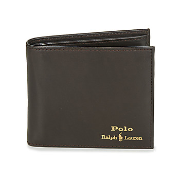 Borse Uomo Portafogli Polo Ralph Lauren GLD FL BFC-WALLET-SMOOTH LEATHER Nero
