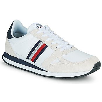 Scarpe Uomo Sneakers basse Tommy Hilfiger RUNNER LO LEATHER STRIPES Bianco