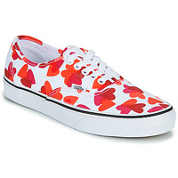 Scarpe Donna Sneakers basse Vans AUTHENTIC Bianco / Rosso