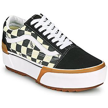 Scarpe Donna Sneakers basse Vans OLD SKOOL STACKED Nero / Bianco